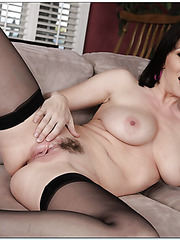 Amazing chick RayVeness showing fuckable ass and spreading axilla