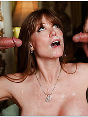 Winning pornstar Darla Crane prefers when two guys a fucking her
