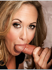 Stunning babe Brandi Love loves swallowing young dicks and getting drilled