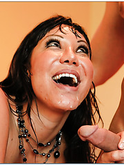 Spectacular milf Ava Devine making a deepthroat and reaching orgasm