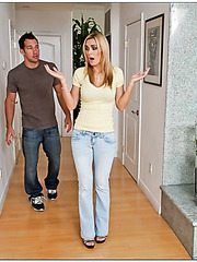 Delectable whore Tanya Tate enjoys her neighbor's young delicious dick