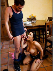 Superior hooker Vanilla Deville gets drilled in doggystyle and creampied