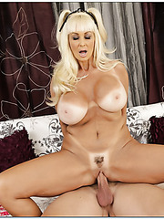 Sparkling blonde Brittany O'Neil knows how to make young guys satisfied