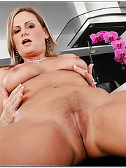 Alluring blonde Becca Blossoms prefers doing bad things for the audience