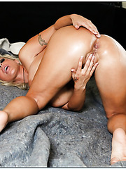 Adorable mature Holly Halston riding a young hard wiener in hardcore style