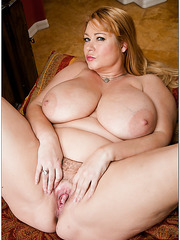 Awesome fatty Samantha 38G loves stripping and playing with boobies