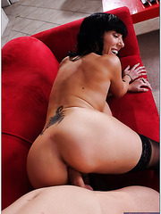 Elegant whore Alia Janine making a titjob and getting fully satisfied