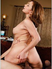 Elegant mom Rebecca Bardoux seducing and fucking an innocent boy