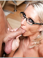 Winning mature Emma Starr sure loves seducing and fucking young boys