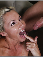 Delectable chick Lisa Demarco gets naughty when sees a big tasty wiener