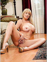 Dazzling hooker Olivia Parrish spreading legs and fingering like a naughty girl