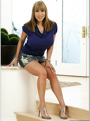 Splendid milf Ava Devine showing amazing ass and masturbating on the floor