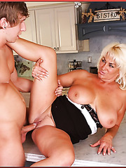 Dreamy mature Ginger Lynn prefers fucking with young sexy fellows