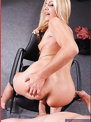 Awesome fuck with a horny blonde Jazella Moore in the office