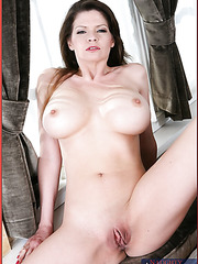 Lonely Mrs. Summers takes off her sexy clothes in her big house