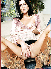 Nasty hottie with a great slender body Lake Russell shows her tight pussy
