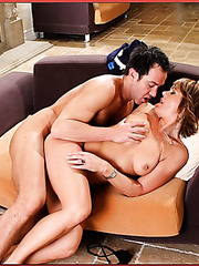 Kelly Leigh takes her neighbor's cock and gives a passionate blowjob
