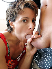 Young boy Kyle licks Cori Gates' tight pussy and fucks her