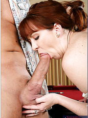 Anal fucking action with pale-skinned redhead milf named Trinity Post