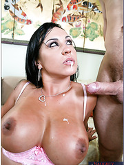 Super sweet babe with tanned skin and huge breast Mariah Milano fucked with passion