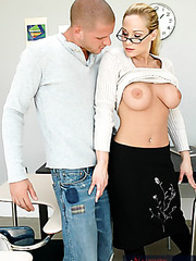 Hot teacher Tyler Faith enjoys fucking after classes with hot student