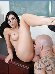 Arresting brunette Mrs. Diana Prince loves this student's big dick