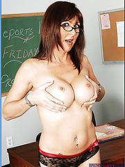 Mature teacher Desi Foxx shares her fucking experience with a student