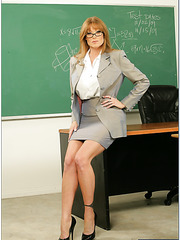 Super busty milf teacher Darla Crane enjoys hardcore fuck with her student