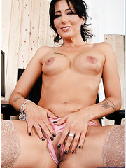 Black haired milf Zoey Holloway is tired of computer and wants to taste fresh jizz