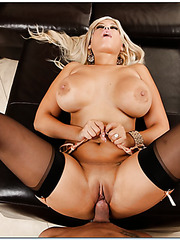 Curvy and dangerously hot blonde milf with giant boobs Bridgette B