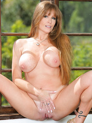 Amazing outdoor scene with a passionate and busty mature Darla Crane