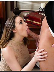 Busty and gorgeous lady Chanel Preston is on the hunt for dick
