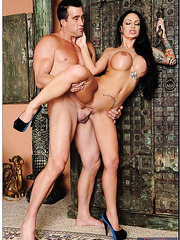 Sexy Angelina Valentine gets pleasure while she feels her fucker's cock in the pussy