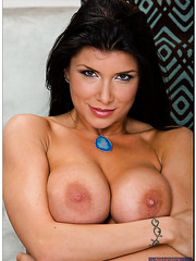 Passionate dark haired angel Romi Rain looks so hot without her sexy lingerie