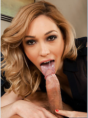 Pretty angel Lily LaBeau gets sperm on her lips after a hardcore fuck