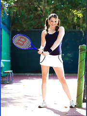 Playful Tori Black gets a perfect relaxation after intense tennis training
