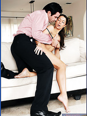 Petite milf with perfect sport body Ann Marie Rios fucked by her businessman
