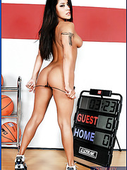 Fascinating brunette with perfect figure Jenaveve Jolie fucked by basketball player