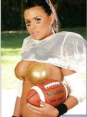 The hottest football player with great breasts Eva Angelina facialized sweet