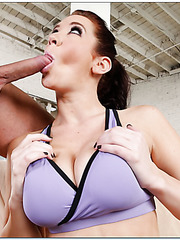 Awesome minx with long legs and huge boobs Jayden Jaymes fucks with passion