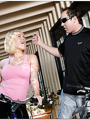 Top-class sex angel with huge breasts Krissy Lynn fucked after bike ride