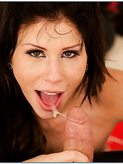 Horny brunette milf Brooklyn Lee got a long awaited satisfaction in this hardcore action