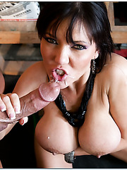 Claire Dames gets a hot cunnilingus and sucks her fucker's dick