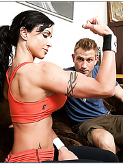 Hardcore anal fuck with a passionate and wild babe named Jewels Jade