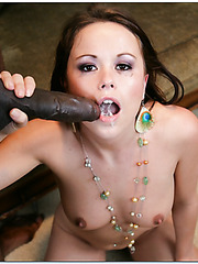 Interracial anal fuck with a gorgeous lady named Kaci Starr