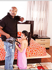 Arresting slut Persia Pele is being banged by a black dudes huge sausage