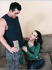 Obedient skinny girl Jennifer Dark is being nailed hard in her holes