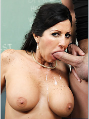 Nasty brunette mature Tara Holiday demonstrates a great fuck with her pupil
