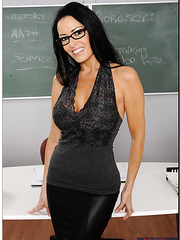 Nasty and busty brunette Vanilla DeVille gets a dick in the school