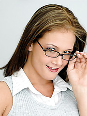 Hot secretary in sexy glasses Tory Lane fucked and facialized